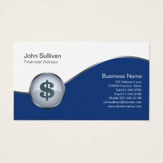 Ícone financeiro do sinal de dólar do cartão de