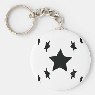 ícone preto de nove estrelas chaveiro