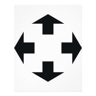 ícone preto de quatro setas modelos de panfleto