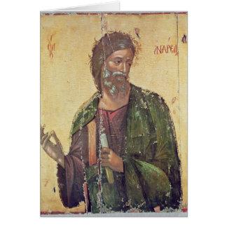 Ícone que descreve St Andrew Cartão Comemorativo