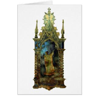 Ícone religioso da páscoa cartão comemorativo