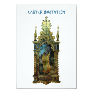 Ícone religioso da páscoa convite 12.7 x 17.78cm