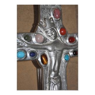 Ícone religioso enchido com convite das gemas
