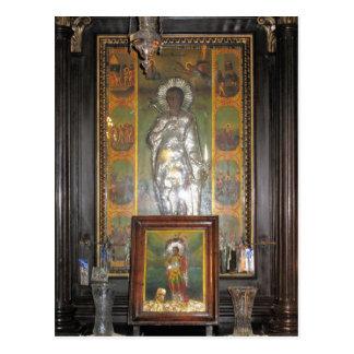 Ícone religioso ortodoxo grego de um santo cartão postal