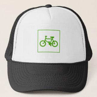 Ícone verde da bicicleta de Eco, bicicleta, Boné