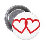 ícone vermelho de dois corações botons