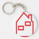 ícone vermelho dos bens imobiliários da casa chaveiro