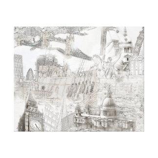 Ícones de Londres - canvas de arte de Digitas