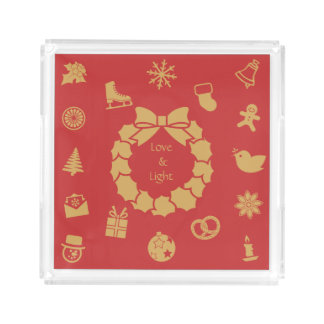 Ícones do Natal - Holidayz - bandeja acrílica