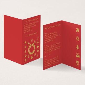 Ícones do Natal - Holidayz - cartão de dobramento