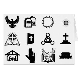 Ícones religiosos cristãos cartões
