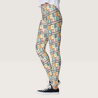 Icónico profissional do farmacêutico projetado leggings