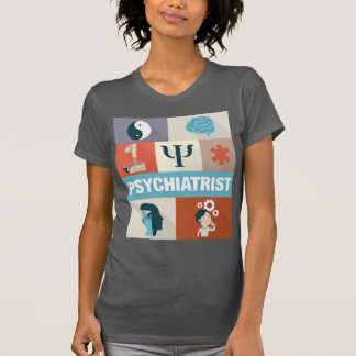 Icónico profissional do psiquiatra projetado tshirt