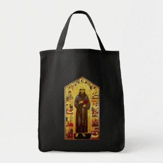 Iconografia medieval de Francisco de Assis do Sacola Tote De Mercado