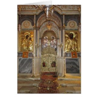 Iconostasis da igreja ortodoxa dos cartões de