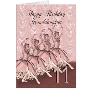 Idade 11 da neta, um cartão de aniversário da