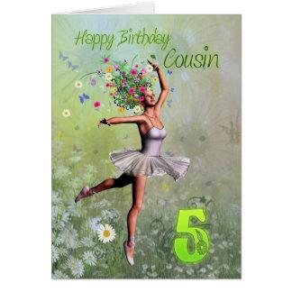 Idade 5 do primo, cartão de aniversário
