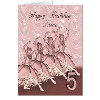 Idade 5 do primo, um cartão de aniversário da bail