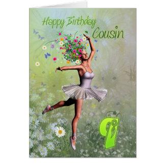 Idade 9 do primo, cartão de aniversário