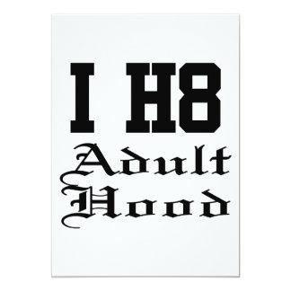 idade adulta convite 12.7 x 17.78cm