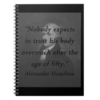 Idade de cinqüênta - Alexander Hamilton Cadernos