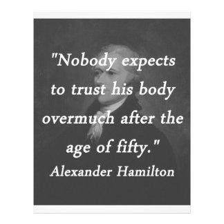 Idade de cinqüênta - Alexander Hamilton Papel Timbrado