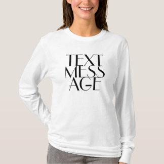 Idade/Probblem da confusão do texto? Camiseta