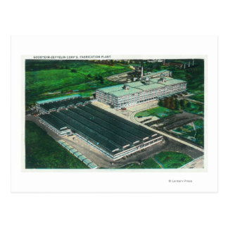 Ideia aérea da fabricação do Goodyear-Zepelim Cartão Postal