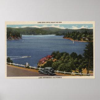 Ideia da movimentação da borda do lago perto da re posteres