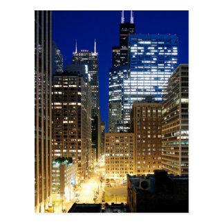 Ideia da noite da arquitectura da cidade de cartão postal