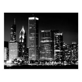 Ideia da noite da arquitectura da cidade famosa de cartão postal
