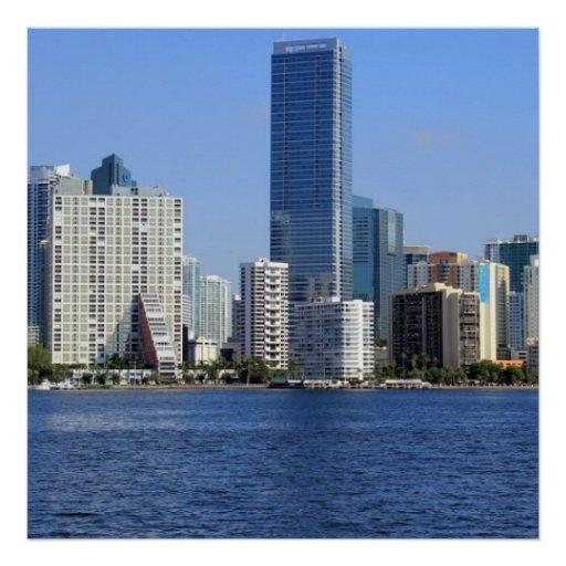 Ideia da skyline de Miami Pôsteres