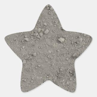 Ideia de ângulo alto da terra marrom adesito estrela
