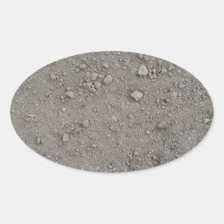 Ideia de ângulo alto da terra marrom adesivo oval