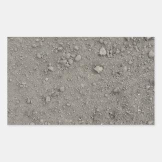 Ideia de ângulo alto da terra marrom adesivo retangular