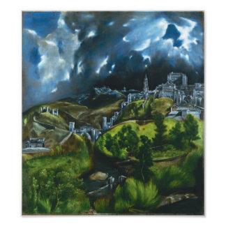 Ideia de El Greco do impressão da foto de Toledo