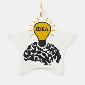 Ideia de um cérebro ornamento de cerâmica