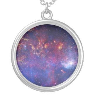 Ideia do centro da galáxia da Via Láctea Colar Banhado A Prata