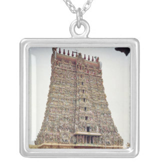 Ideia do exterior cinzelado do gopuram sul bijuteria