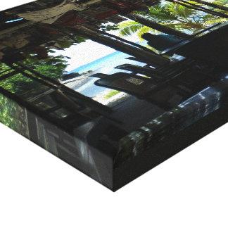 Ideia do paraíso impressão de canvas envolvidas