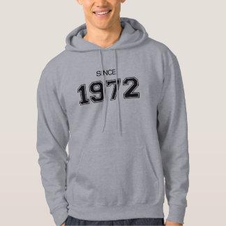 ideia do presente de aniversário 1972 moleton com capuz