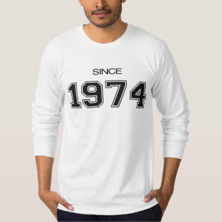 ideia do presente de aniversário 1974 camiseta