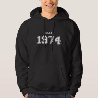 ideia do presente de aniversário 1974 moletom com capuz