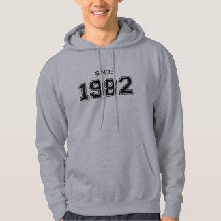 ideia do presente de aniversário 1982 moletom com capuz
