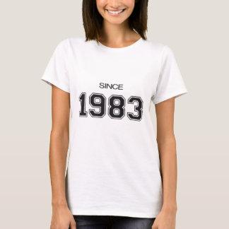 ideia do presente de aniversário 1983 camiseta