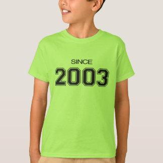 ideia do presente de aniversário 2003 camiseta
