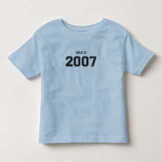 ideia do presente de aniversário 2007 camiseta infantil