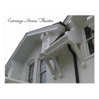 Ideia do teatro da casa de carruagem do estilo da cartão postal
