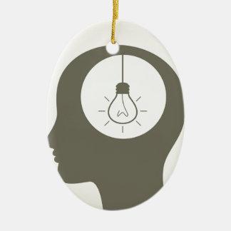 Ideia em uma cabeça ornamento de cerâmica