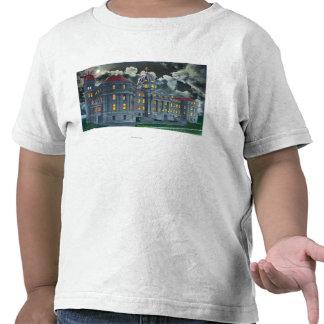 Ideia exterior da academia santamente Bldg dos nom T-shirt